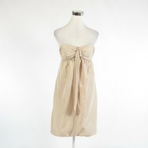 BCBG Max Azria beige silk bubble dress 4